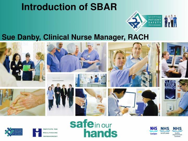 Introduction of SBAR