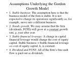 assumptions underlying the gordon growth model