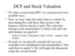 dcf and stock valuation