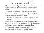 estimating beta 1 3