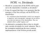 fcfe vs dividends