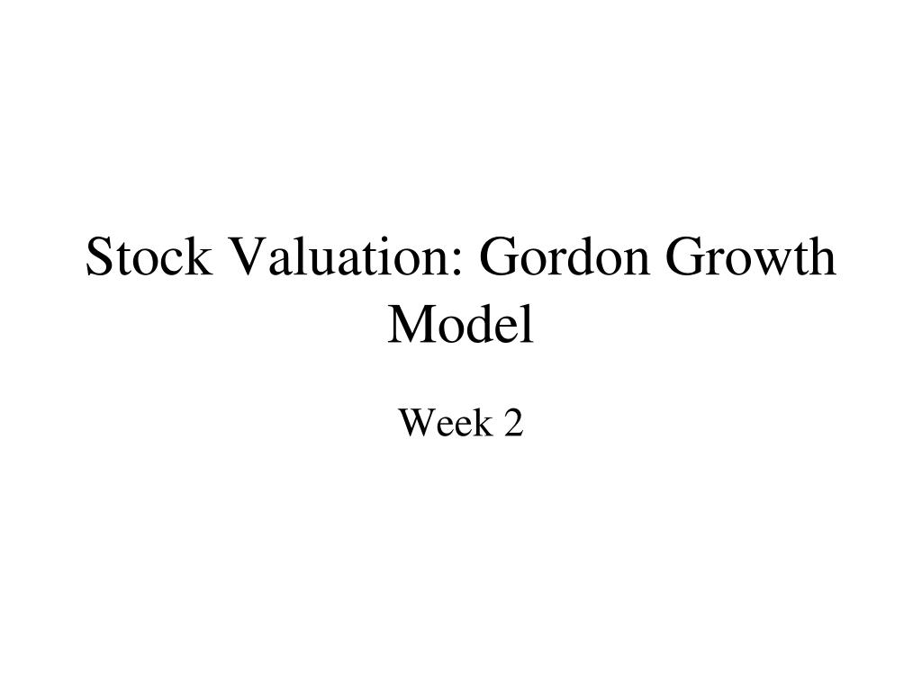 stock valuation gordon growth model l.