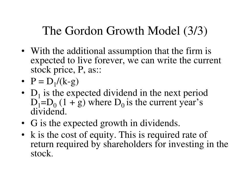PPT Stock Valuation Gordon Growth Model PowerPoint Presentation