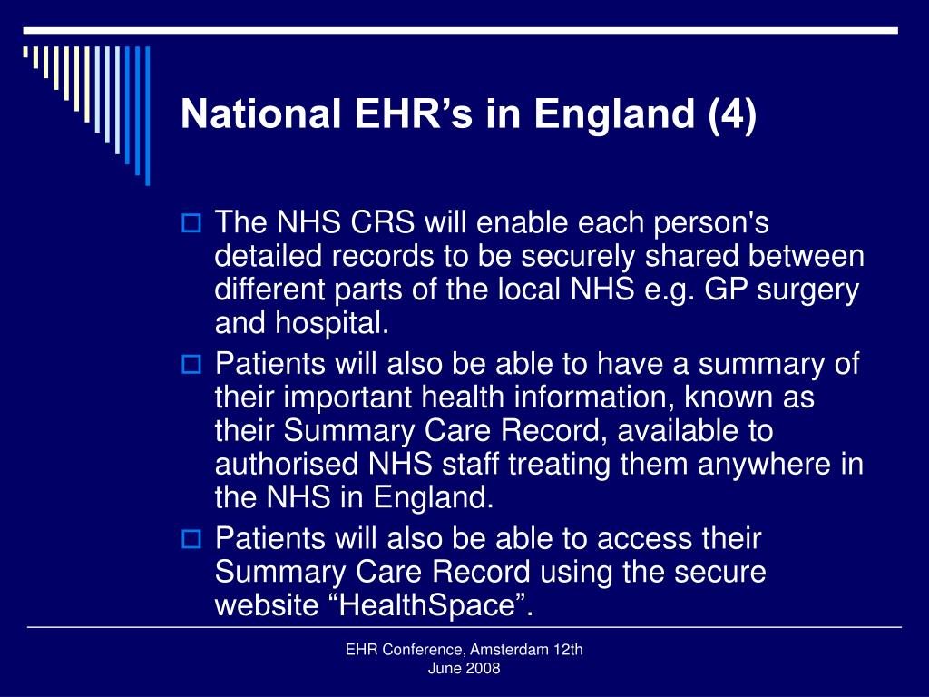 National EHR's in England (4)