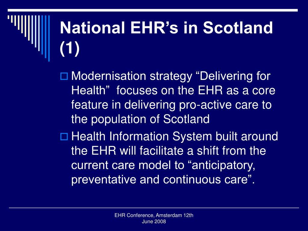 National EHR's in Scotland (1)