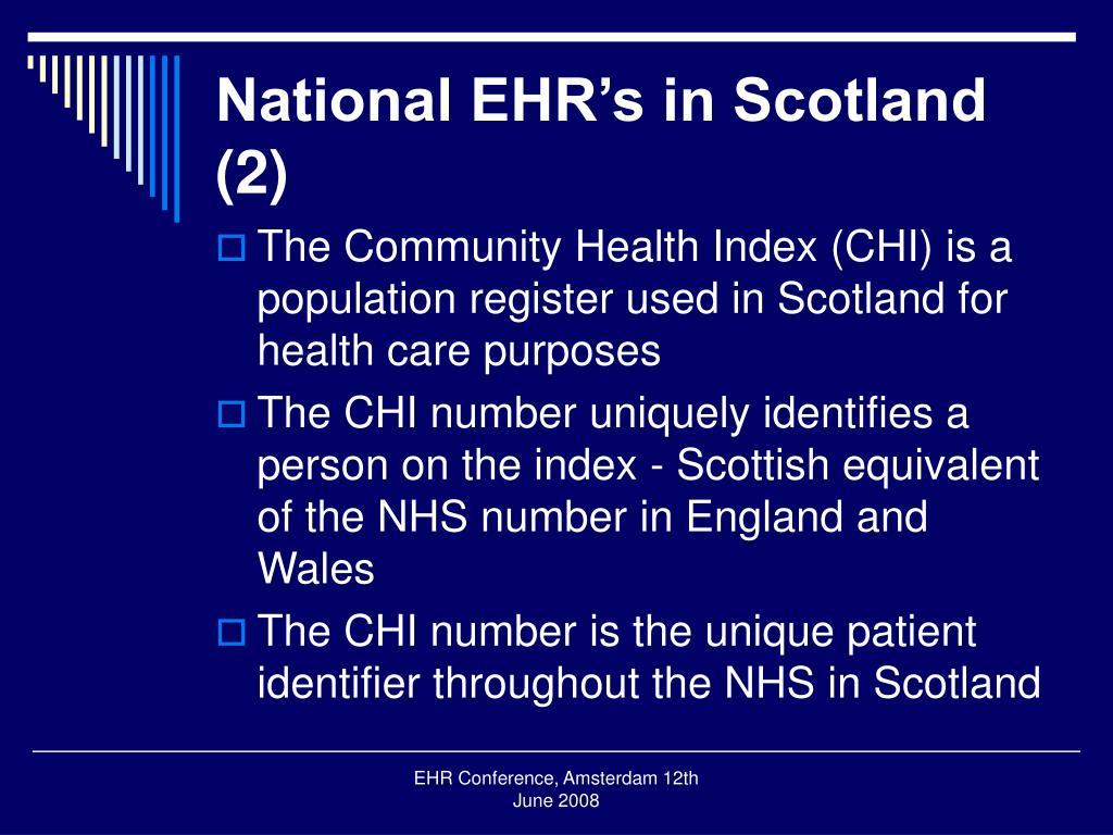 National EHR's in Scotland (2)