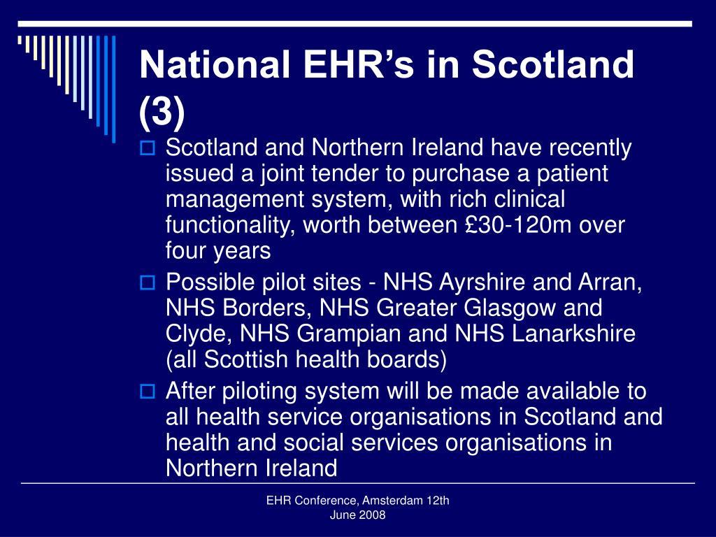 National EHR's in Scotland (3)