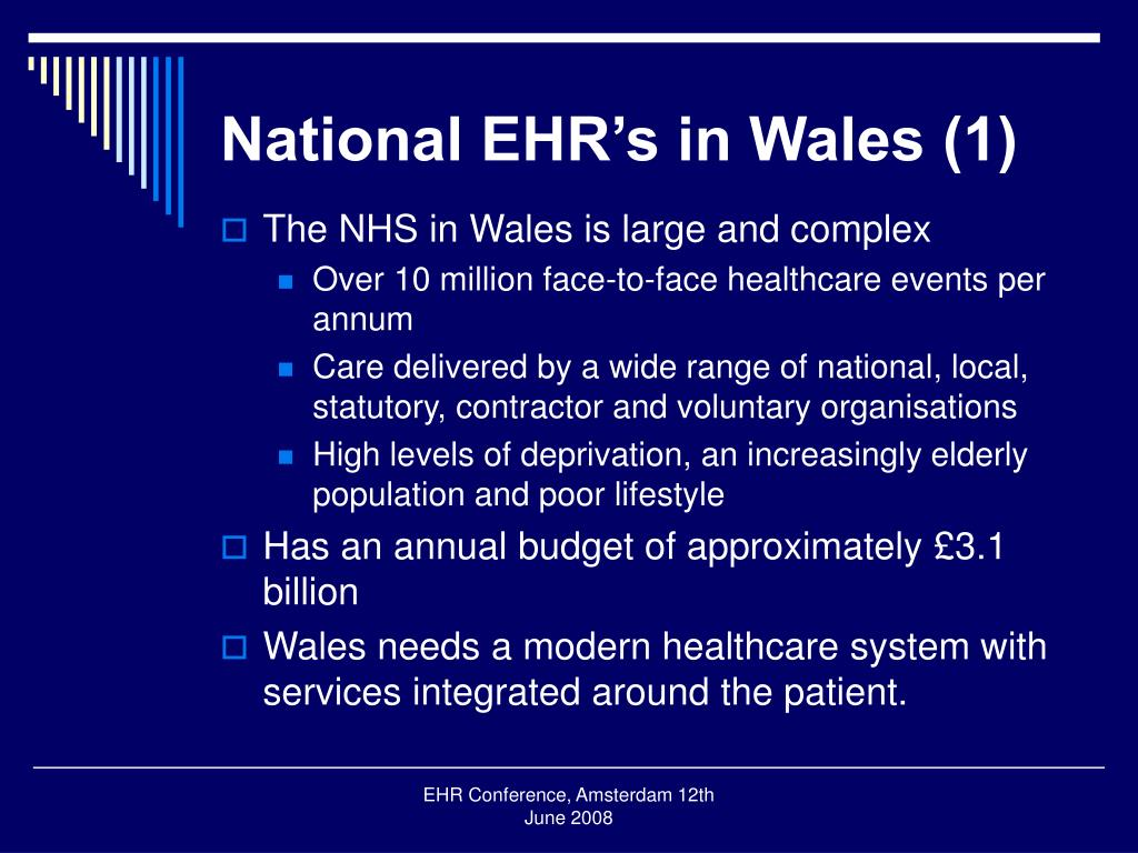 National EHR's in Wales (1)