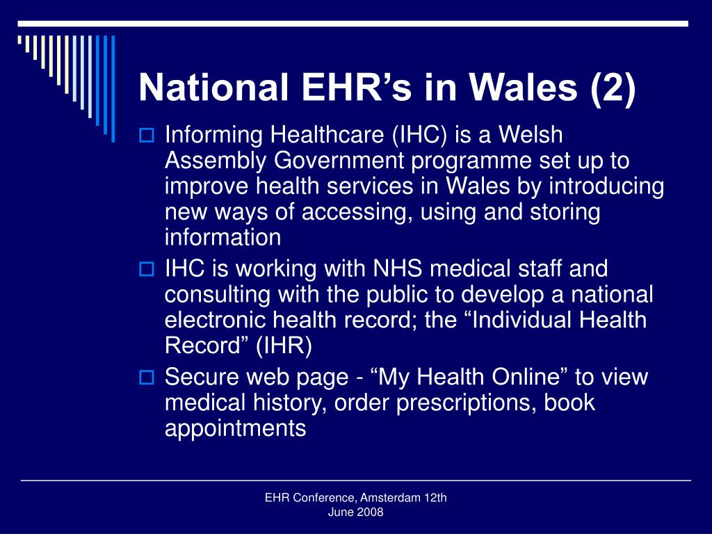 National EHR's in Wales (2)