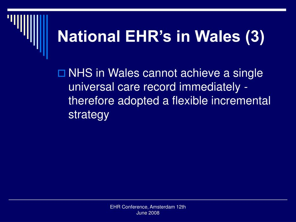 National EHR's in Wales (3)