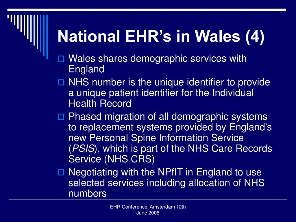National EHR's in Wales (4)