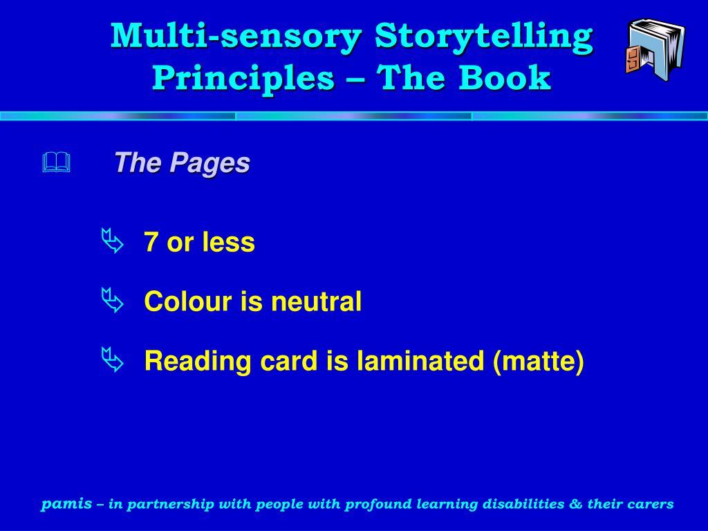 Multi-sensory Storytelling Principles – The Book