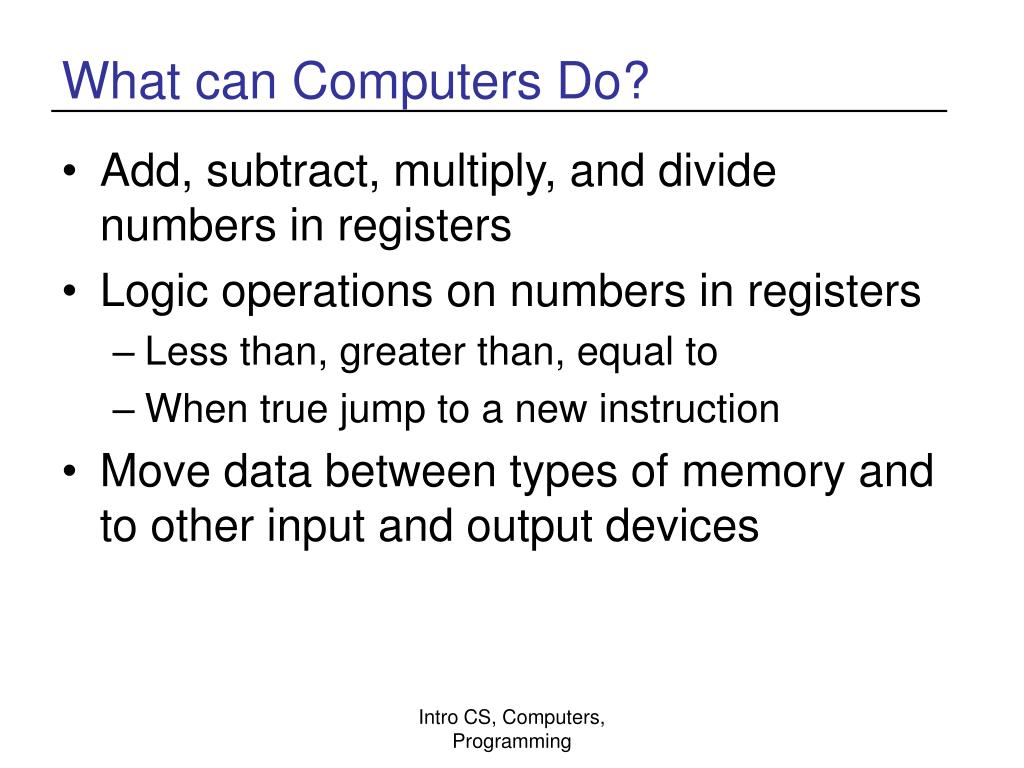 What can Computers Do?