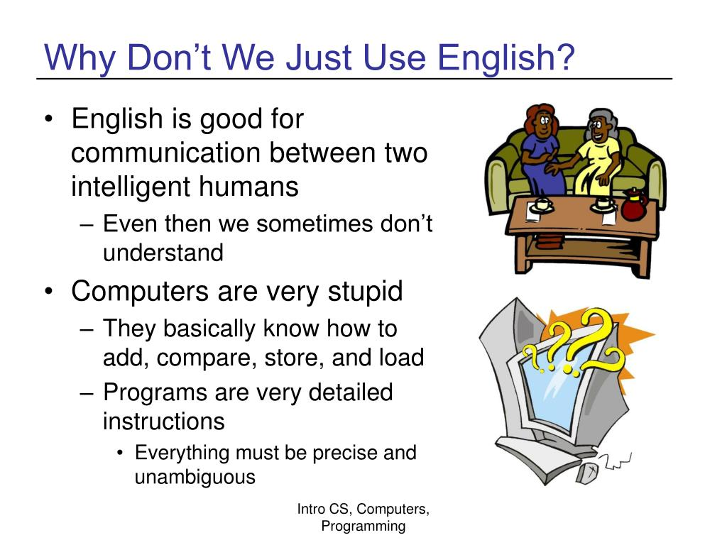 Why Don't We Just Use English?