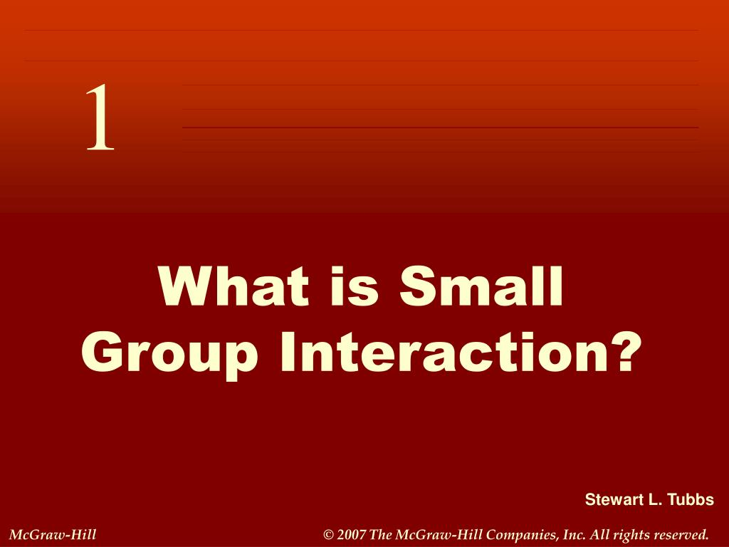 what is small group interaction l.