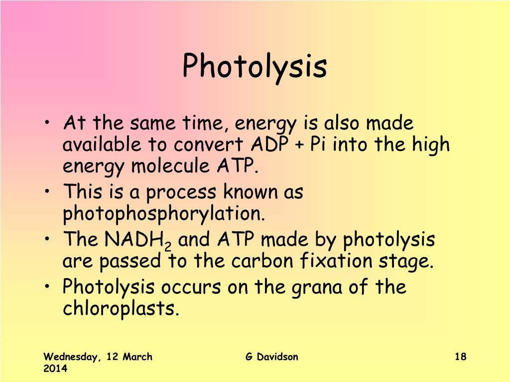 Photolysis