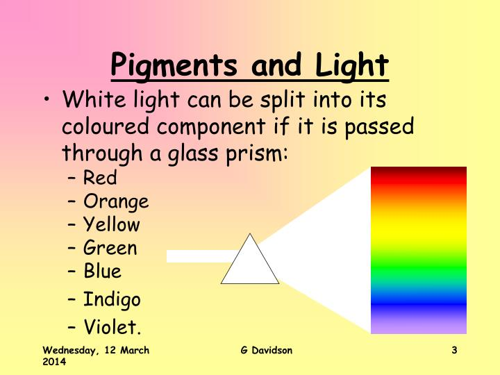 Pigments and light3