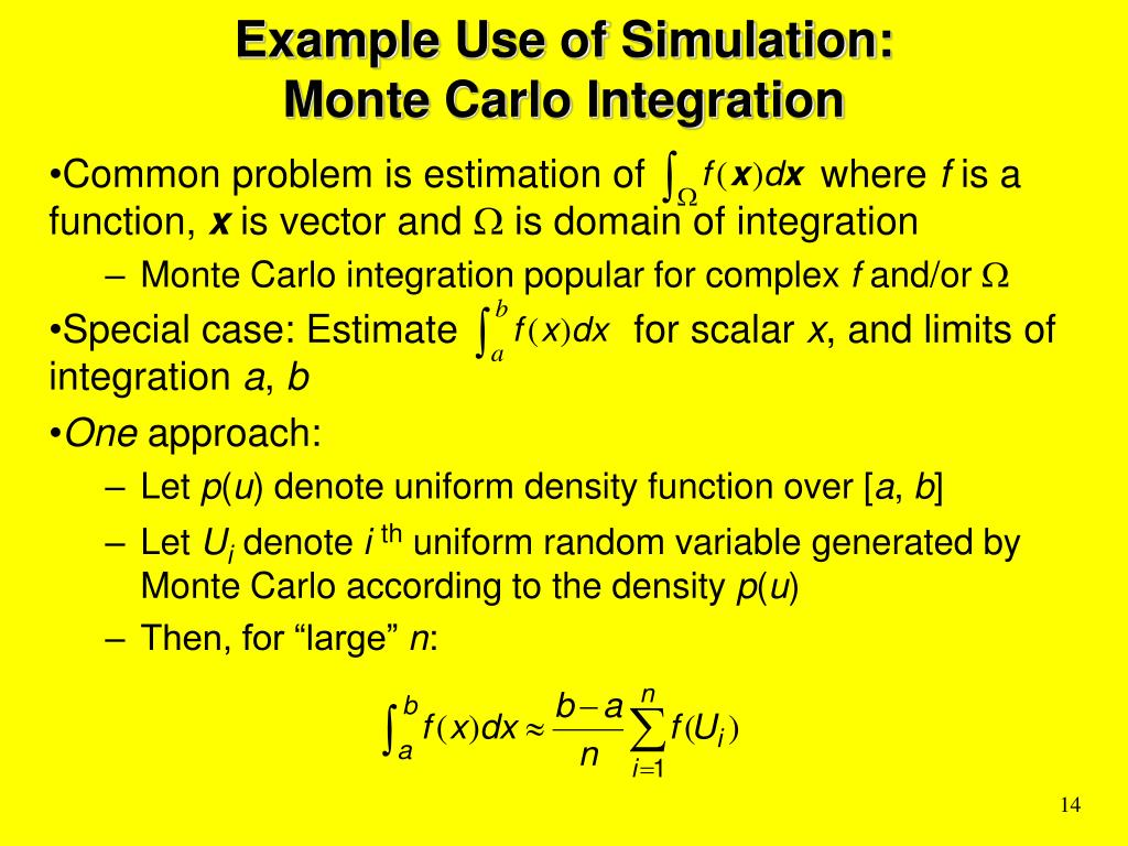 Example Use of Simulation:
