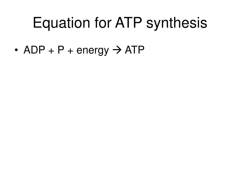 Equation for ATP synthesis
