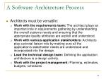 a software architecture process