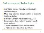 architectures and technologies