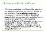 definitions garlan and shaw