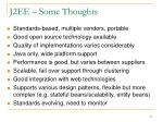 j2ee some thoughts
