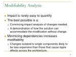modifiability analysis