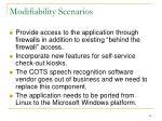 modifiability scenarios