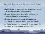 digital signatures for authentication