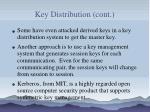 key distribution cont