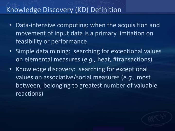 Knowledge discovery kd definition