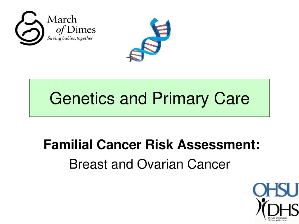 familial cancer risk assessment breast and ovarian cancer l.