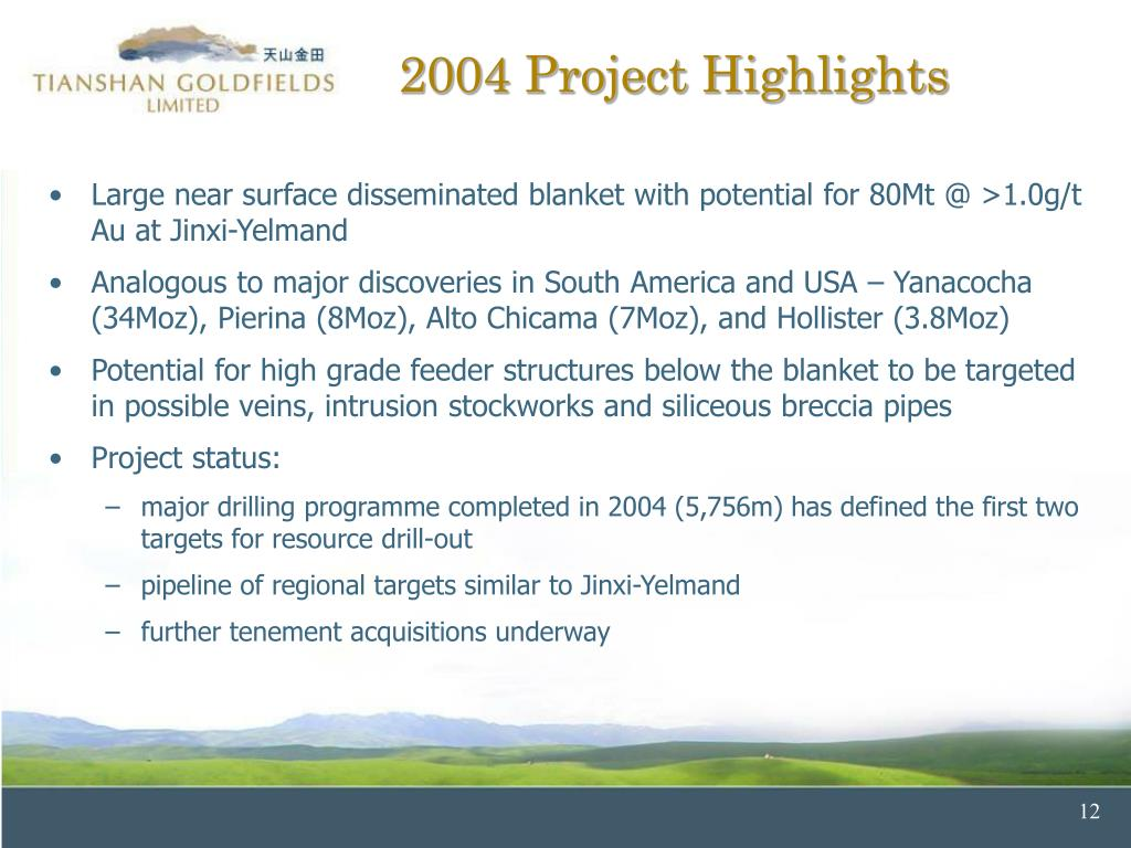 2004 Project Highlights