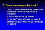 does mammography work