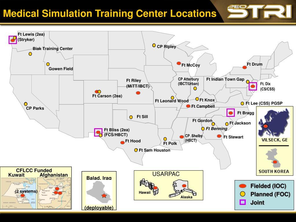 Medical Simulation Training Center Locations