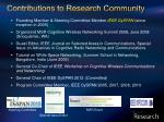 contributions to research community