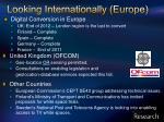 looking internationally europe