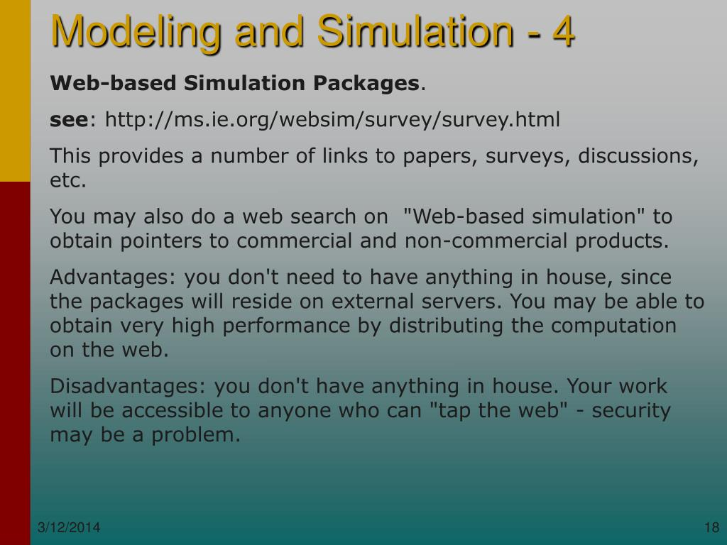 Web-based Simulation Packages