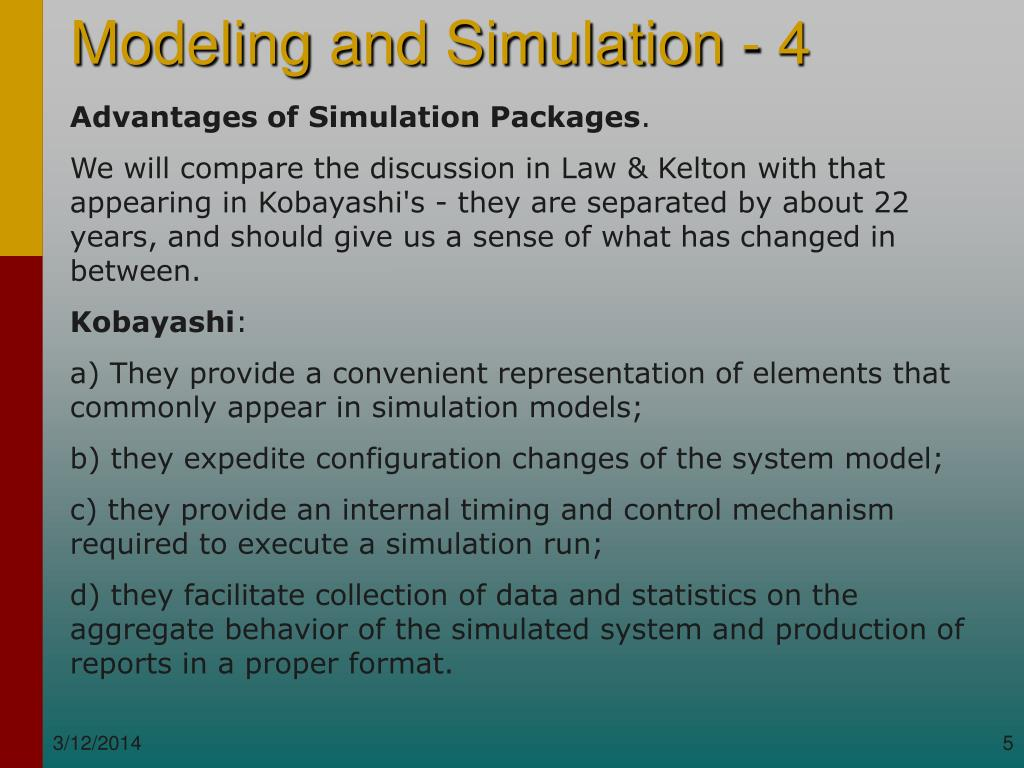 Advantages of Simulation Packages