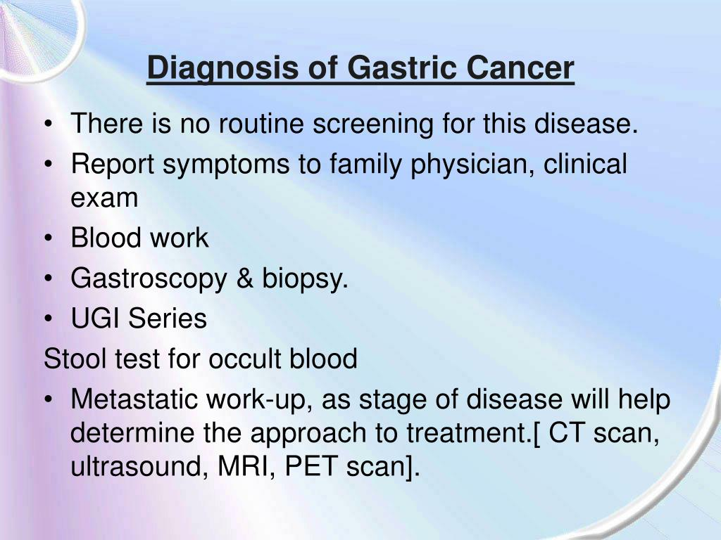 Diagnosis of Gastric Cancer