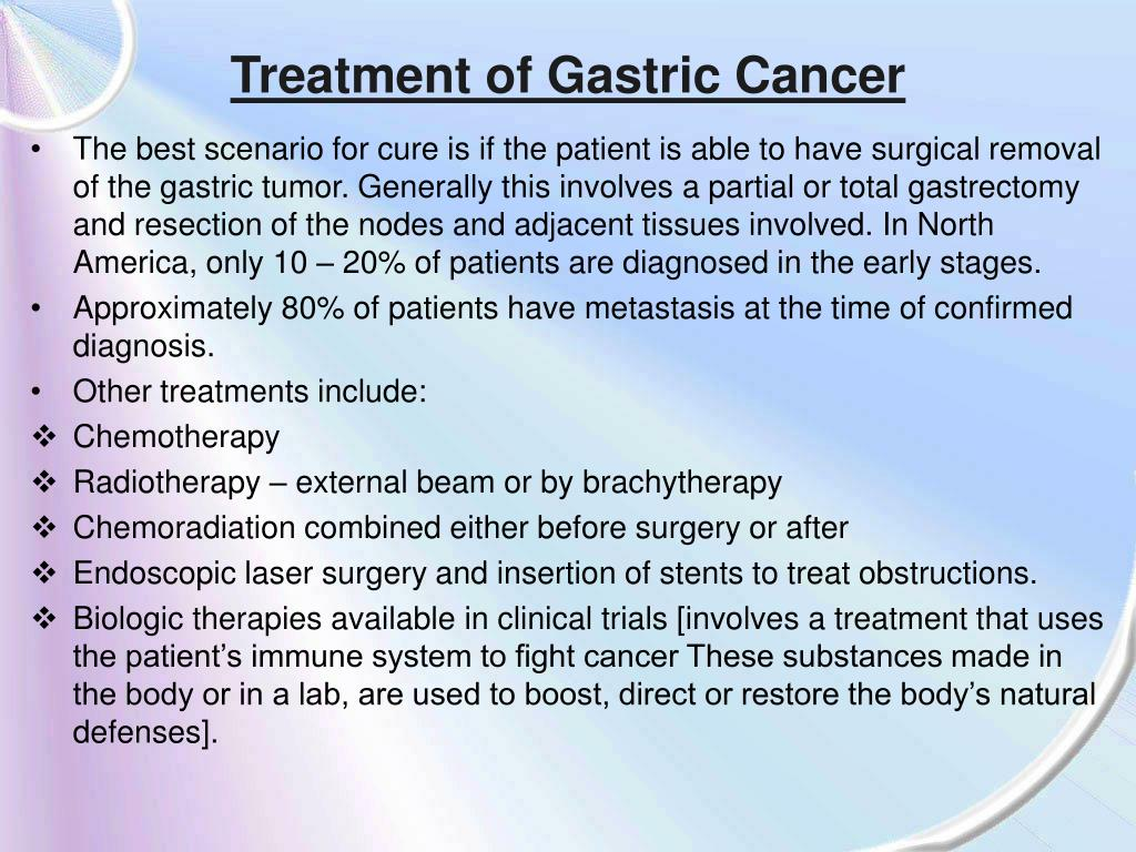 Treatment of Gastric Cancer