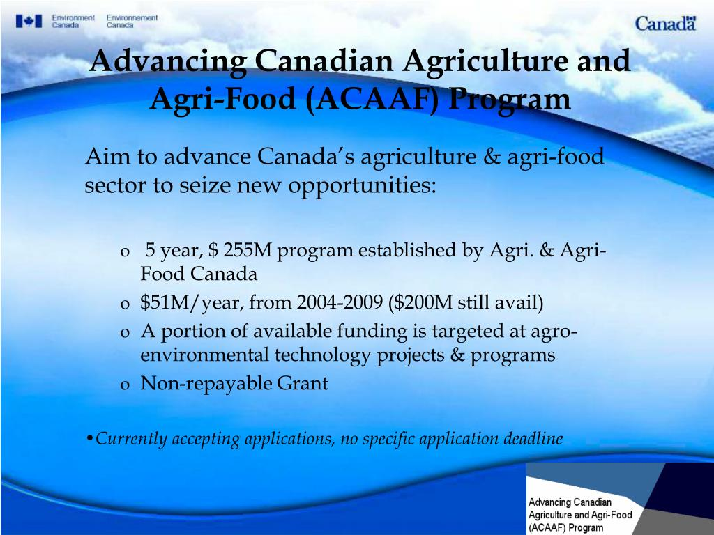 Advancing Canadian Agriculture and