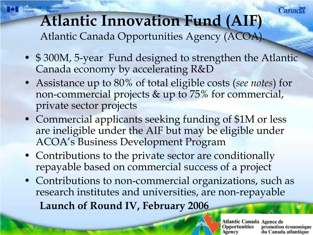 Atlantic Innovation Fund (AIF)