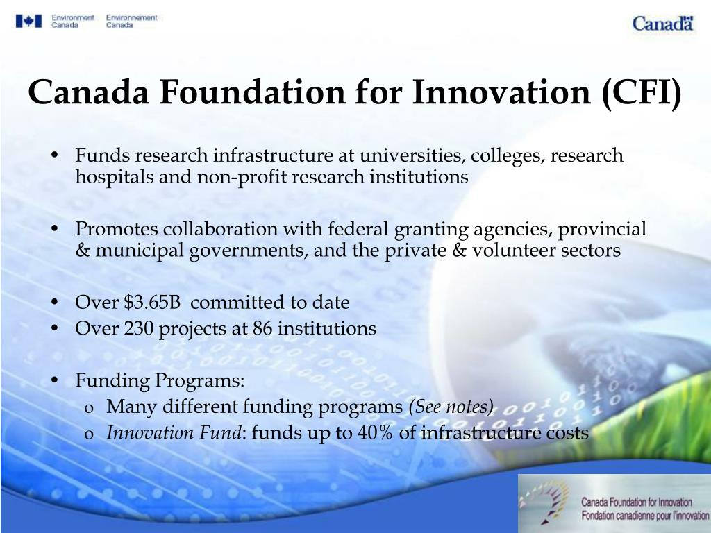 Canada Foundation for Innovation (CFI)