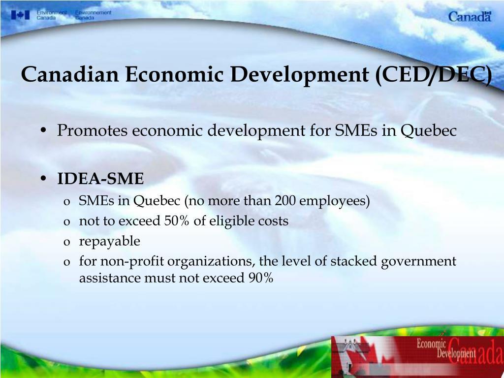 Canadian Economic Development (CED/DEC)