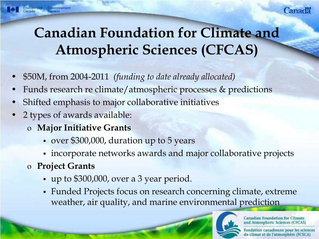 Canadian Foundation for Climate and Atmospheric Sciences (CFCAS)