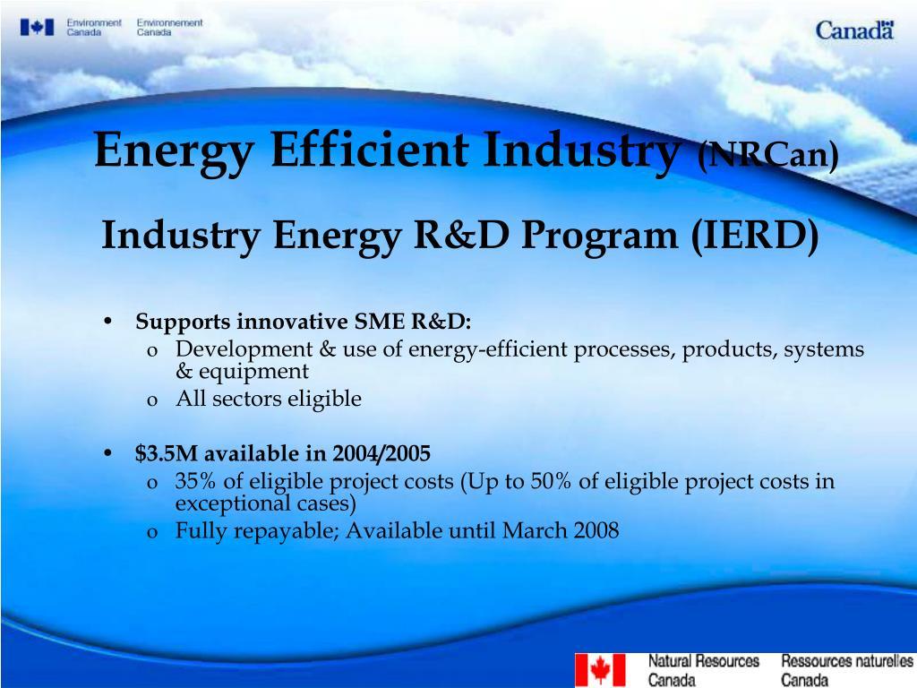 Energy Efficient Industry