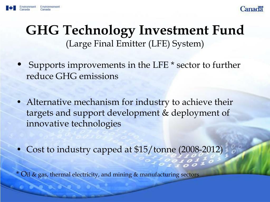 GHG Technology Investment Fund