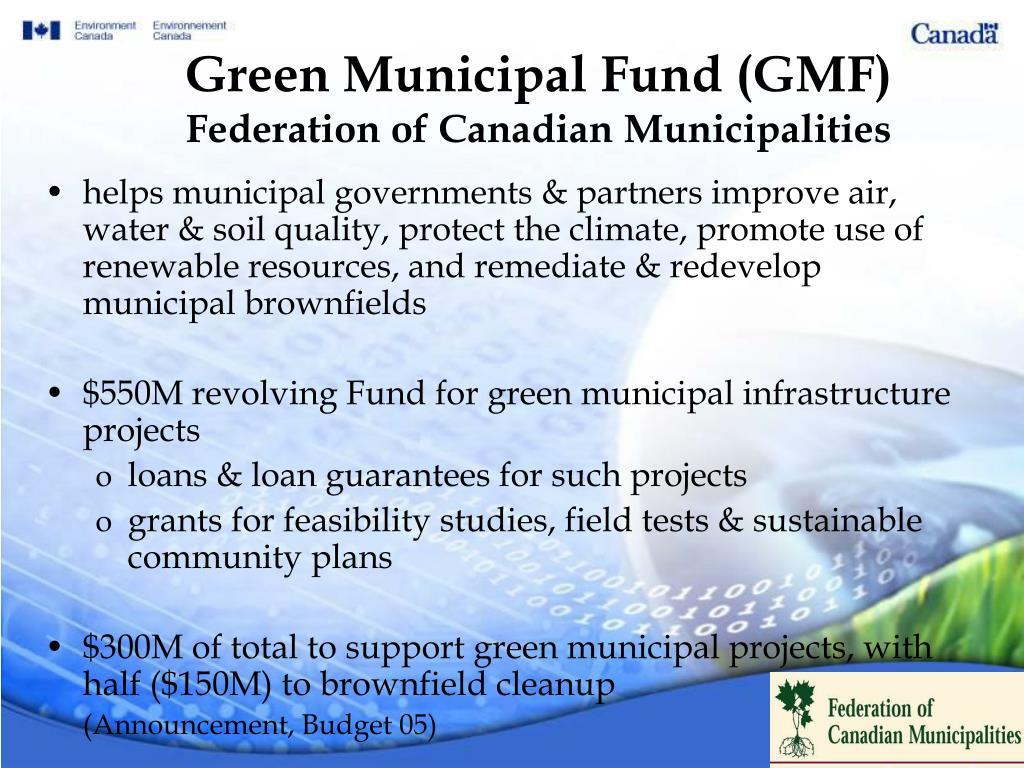 Green Municipal Fund (GMF)
